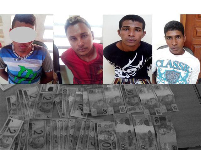 recuperados mais de 600 reais em dinheiro que tinham sido roubados do comércio.