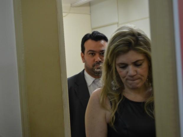 Promotora Alessandra Marques prestou depoimento na delegacia (Foto: Yuri Marcel/G1)