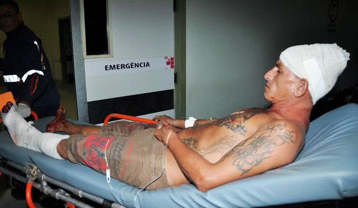 Vítima foi socorrida pelo Samu e encaminhado ao PS/Foto: Selmo Melo/Agência ContilNet