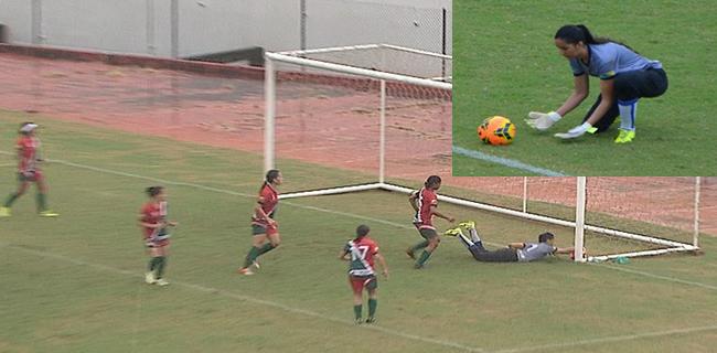 Suelane considera que assistente estava mal posicionada no lance que originou o gol da classificação do Genus (Foto: Quésia Melo)