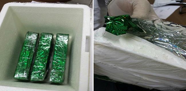 Polícia prendeu com a mulher grávida três quilos de cocaína pura (Foto: Divulgação/Sesp)