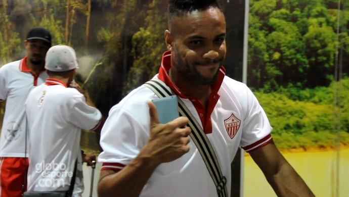 Alexandre Matão, atacante do Rio Branco, tem contrato renovado para Série D (Foto: João Paulo Maia)