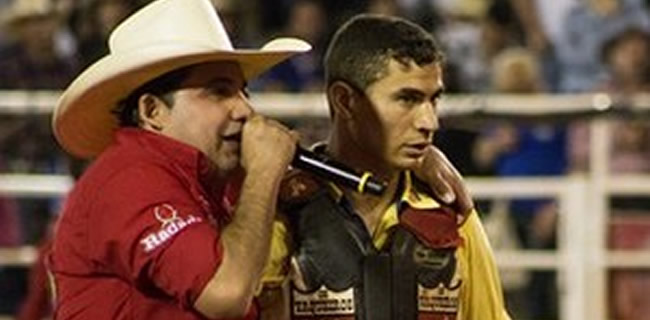 Ramon Rodrigues venceu a final da Liga Nacional de Rodeio, em Barretos (SP) (Foto: Mateus Rigola/G1)