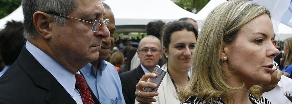 senadora Gleisi Hoffmann e Paulo Bernardo